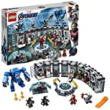 LEGO 76125 Super Heroes Marvel Avengers Iron Mans Werkstatt, modulares Labor mit 6 Marvel Universe...