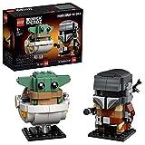 LEGO 75317 BrickHeadz Star Wars Der Mandalorianer und das Kind, Bauset für Sammler