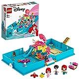 LEGO 43176 Disney Princess Arielles Märchenbuch, Abenteuer Spielset mit Arielle der kleinen...