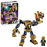 LEGO 76141 Super Heroes Marvel Avengers Thanos Mech Actionfigur, Junior Set für Kinder ...
