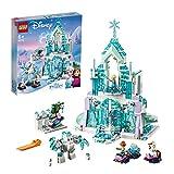 LEGO 43172 Disney Princess Frozen Elsas magischer Eispalast, Set mit Elsa & Anna Minipuppen und...