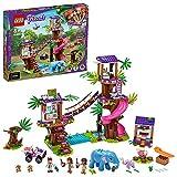 LEGO 41424 Friends Tierrettungsstation im Dschungel, Bauset mit Tierklinik im Baumhaus