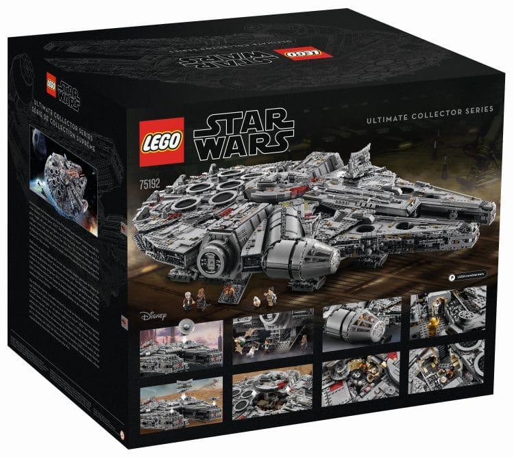 LEGO 75192 UCS Millennium Falcon Box Hinten