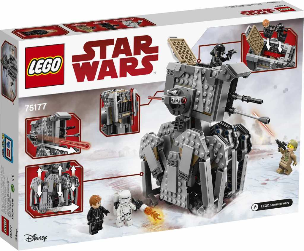 LEGO 75177 First Order Heavy Scout Walker Verpackung Rückseite