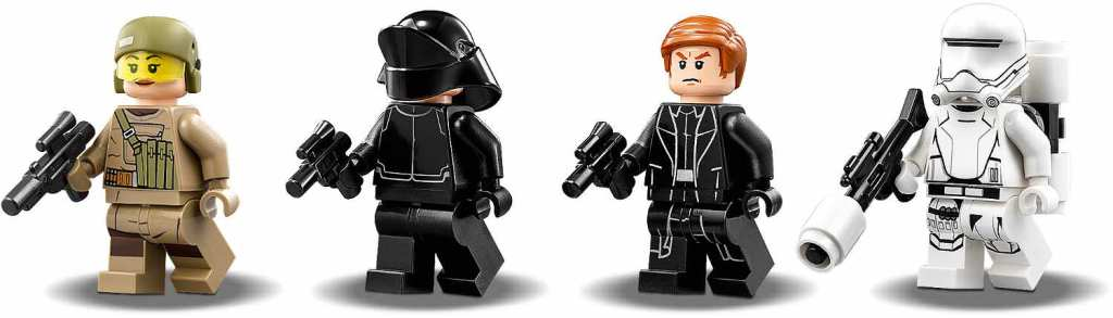 LEGO 75177 First Order Heavy Scout Walker Minifiguren