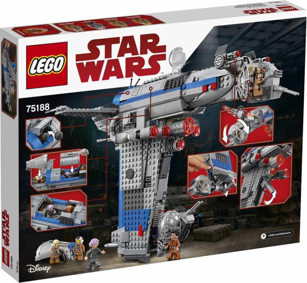 LEGO Star Wars 75188 Resistance Bomber Verpackung hinten