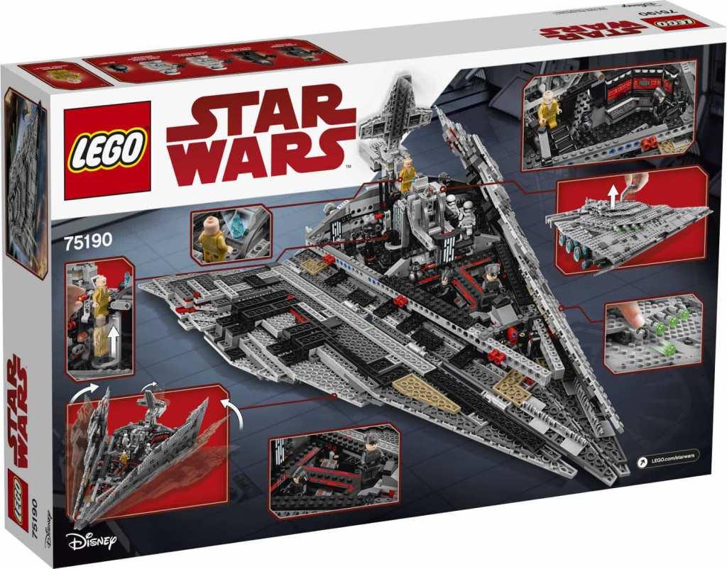 LEGO Star Wars 75190 First Order Star Destroyer Verpackung hinten