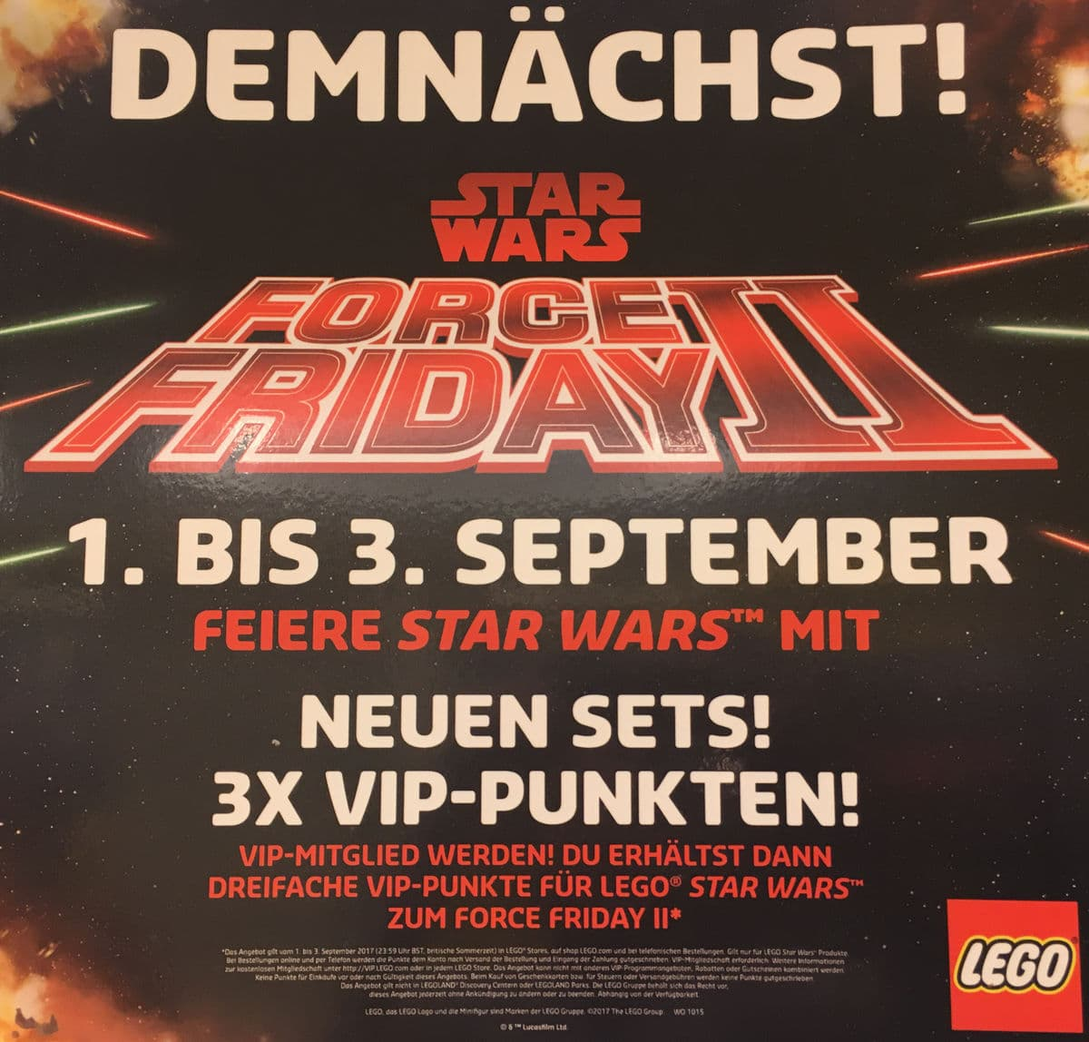 LEGO Star Wars Force Friday 2 Banner