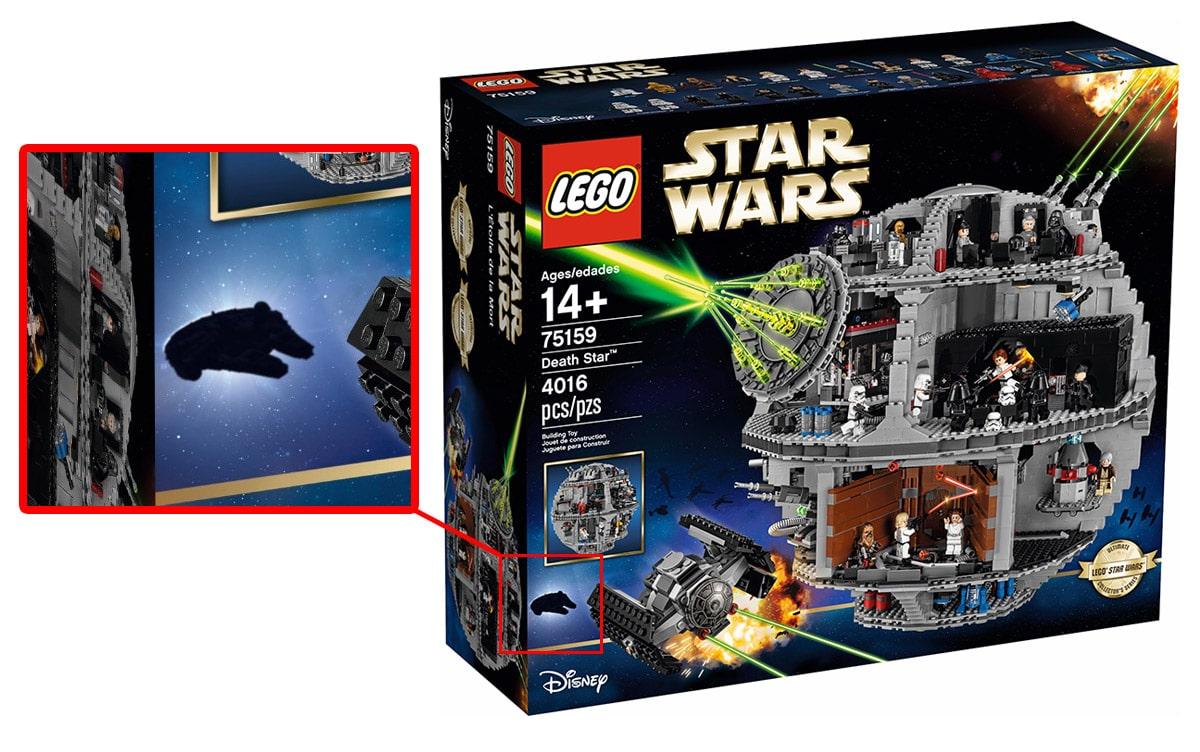 LEGO UCS illennium Falcon Hinweis