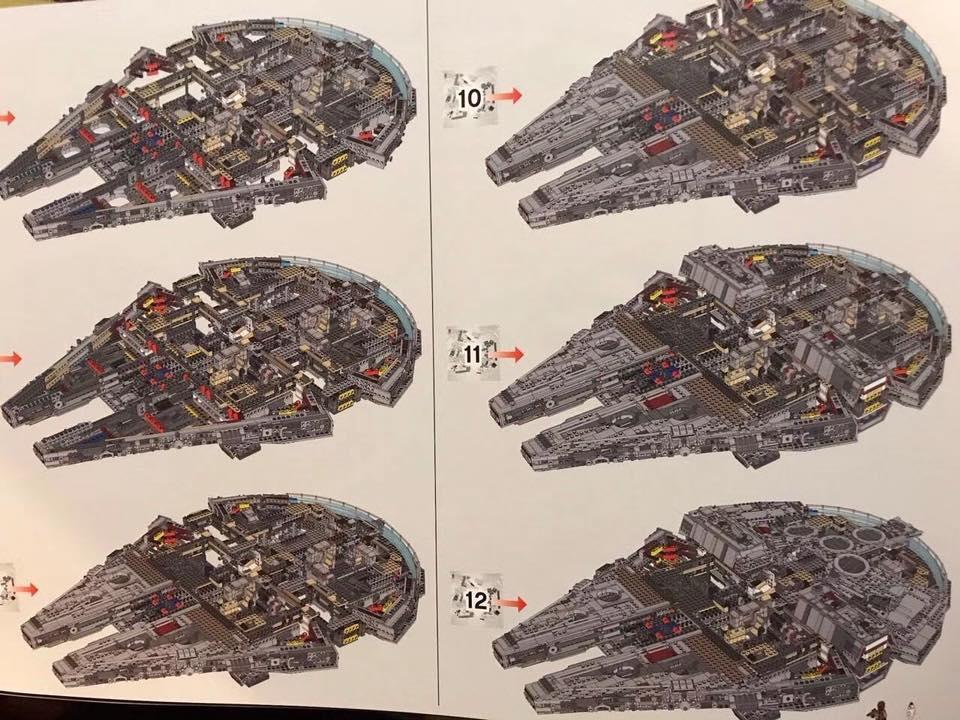 LEGO 75192 Anleitung Anzahl der Tüten