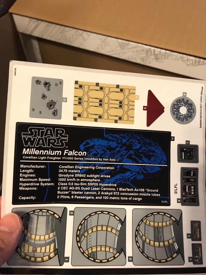 LEGO 75192 Sticker Sheet: Diese Aufkleber sind dabei