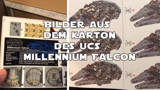 UCS Millennium Falcon Bilder aus dem Karton