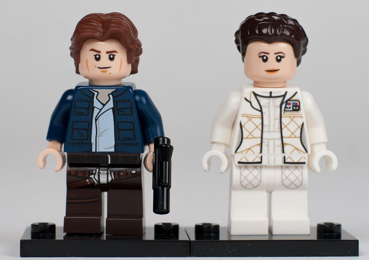 UCS Millennium Falcon Minifiguren: Han Slo und Leia Organa