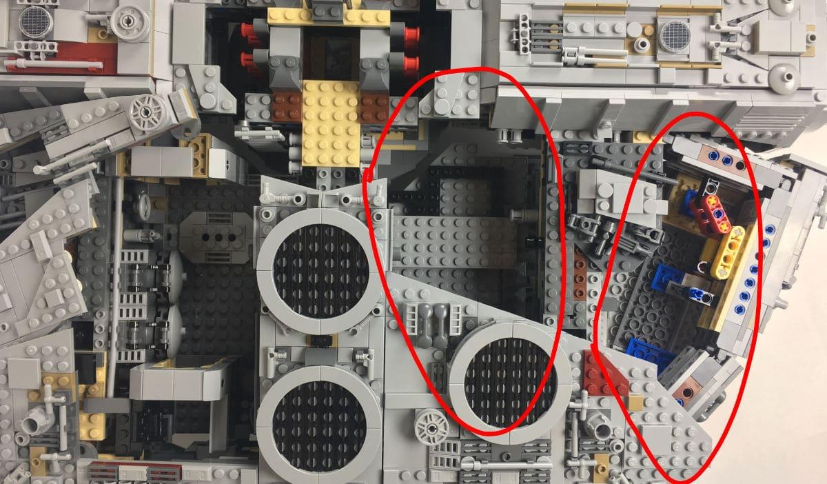 UCS Millennium Falcon leere Innenräume