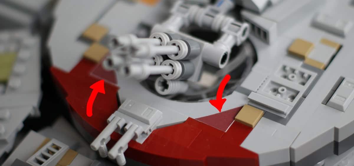 Sticker außen UCS Millennium Falcon