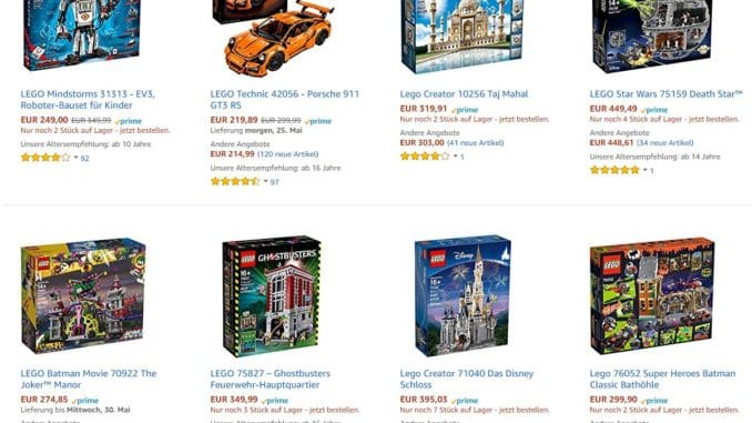 Exklusive LEGO Sets bei Amazon gelistet
