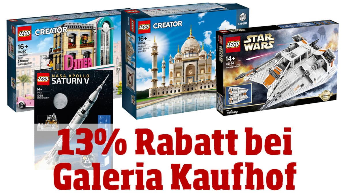 galeria kaufhof angebot mindestens 13 rabatt auf alles von lego. Black Bedroom Furniture Sets. Home Design Ideas
