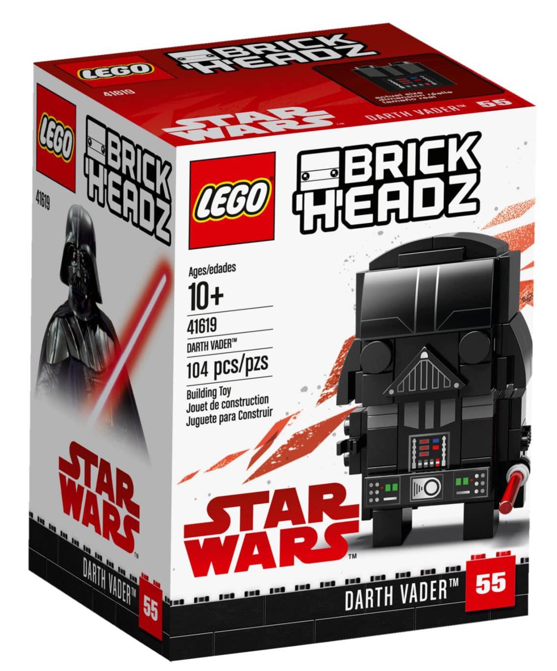 LEGO 41619 Darth Vader BrickHeadz Box