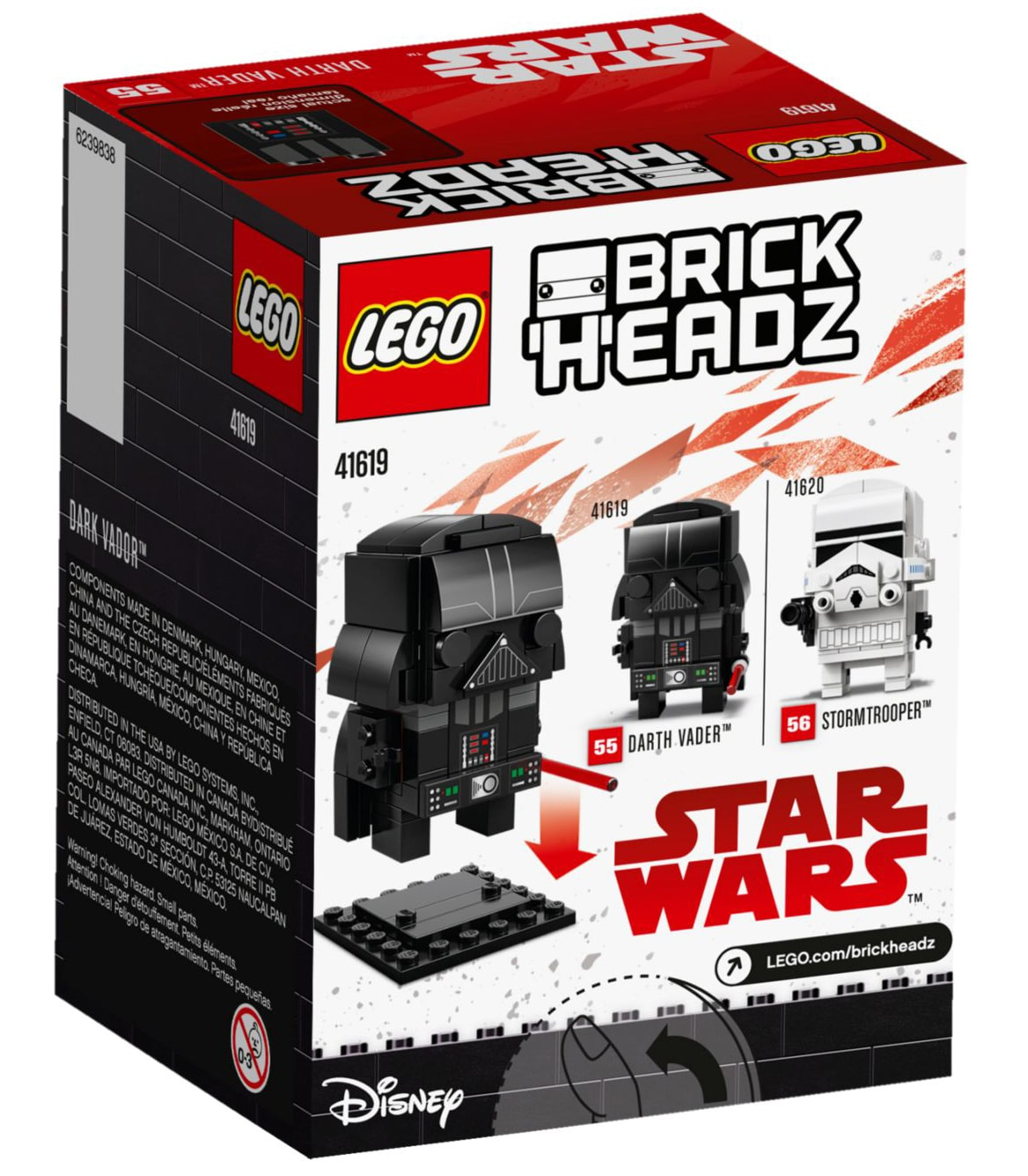 LEGO 41619 Darth Vader BrickHeadz Box hinten