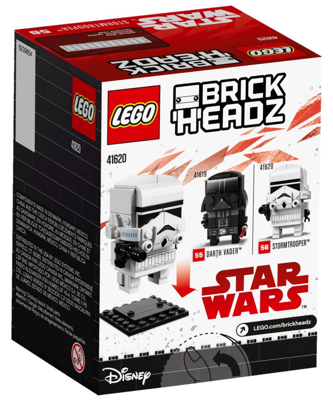 LEGO 41620 Stormtrooper BrickHeadz Box hinten