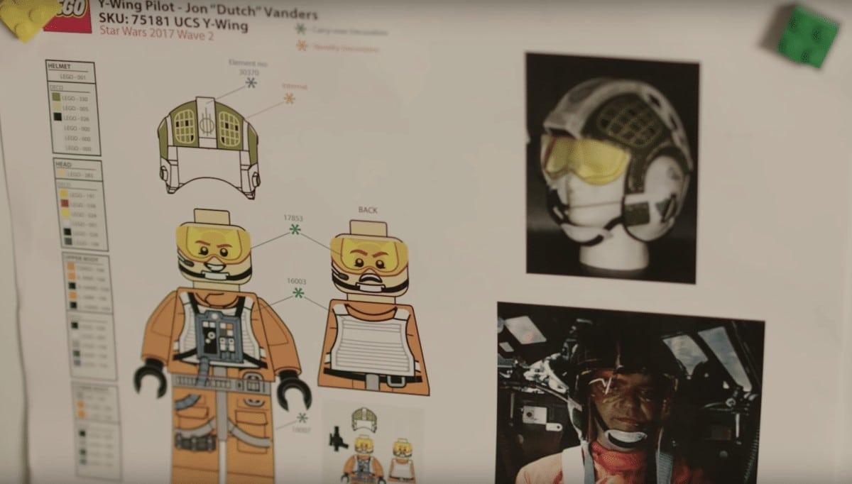 LEGO 75181 Gold Leader Jon Dutch Vander auf einem Screenshot aus dem Designer Video