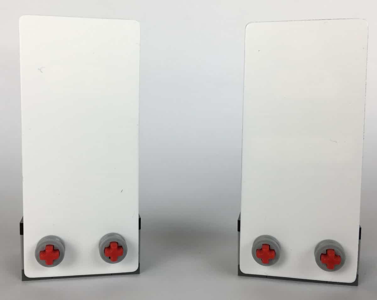LEGO 40299 und 40300 Display Stands Rückseite