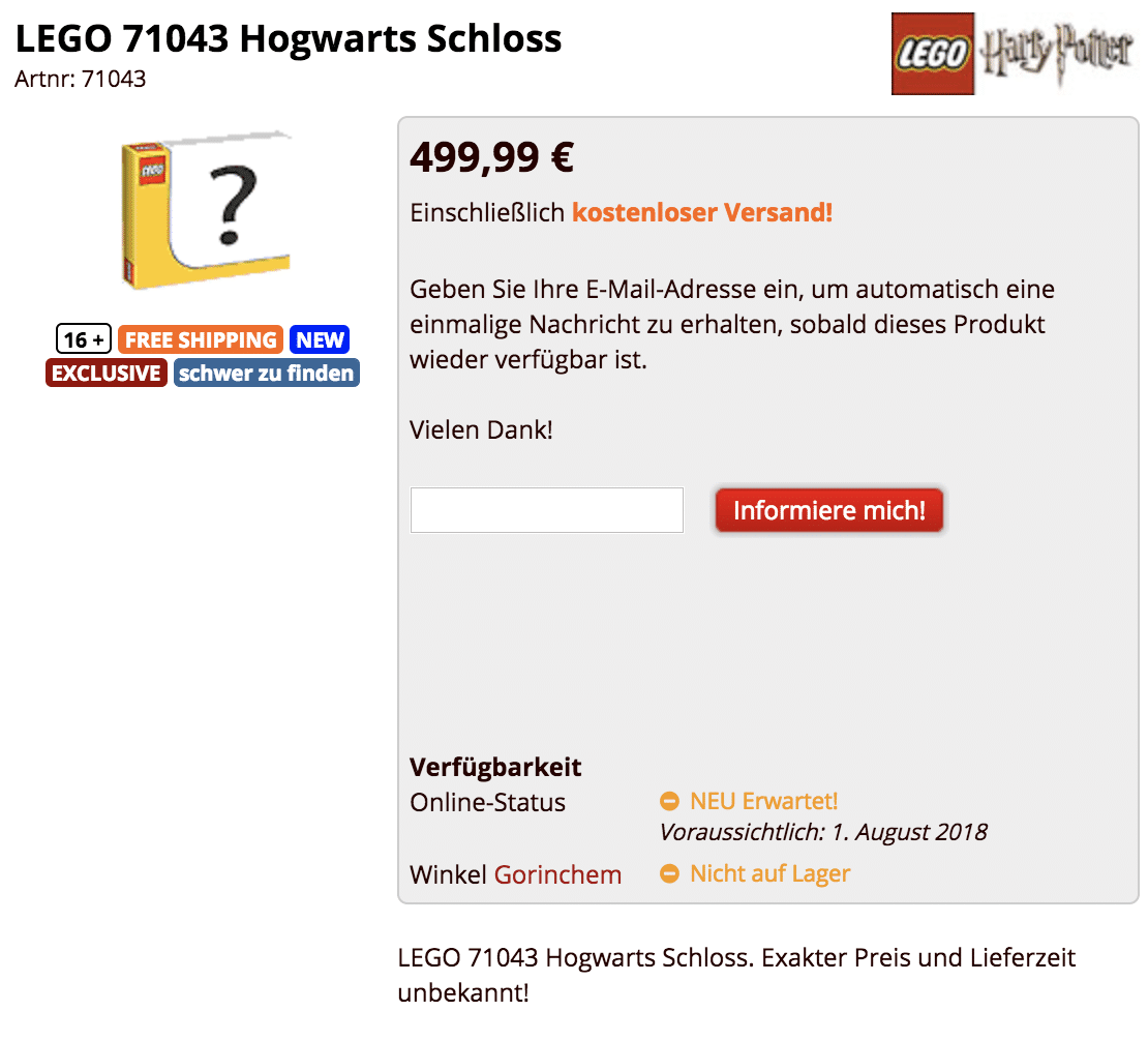 LEGO 71043 Hogwarts Leak brickshop.nl Screenshot