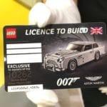 LEGO 10262 Aston Martin Führerschein für VIP Kunden