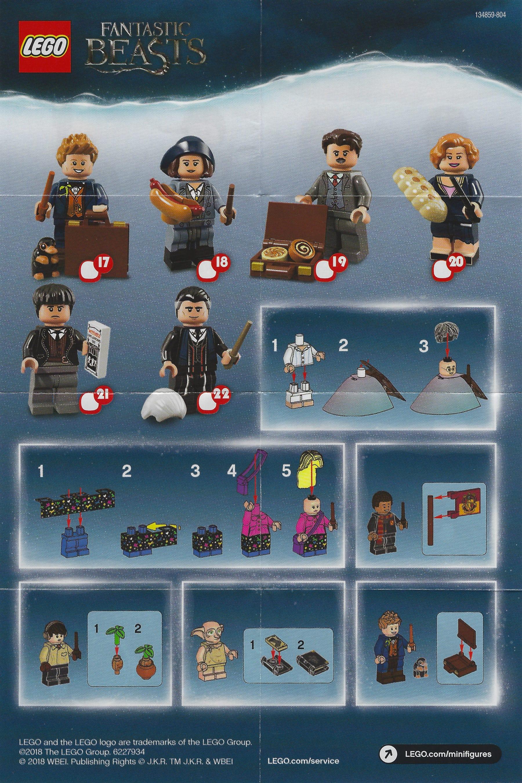 LEGO 71022 Harry Potter CMF Beipackzettel Rückseite