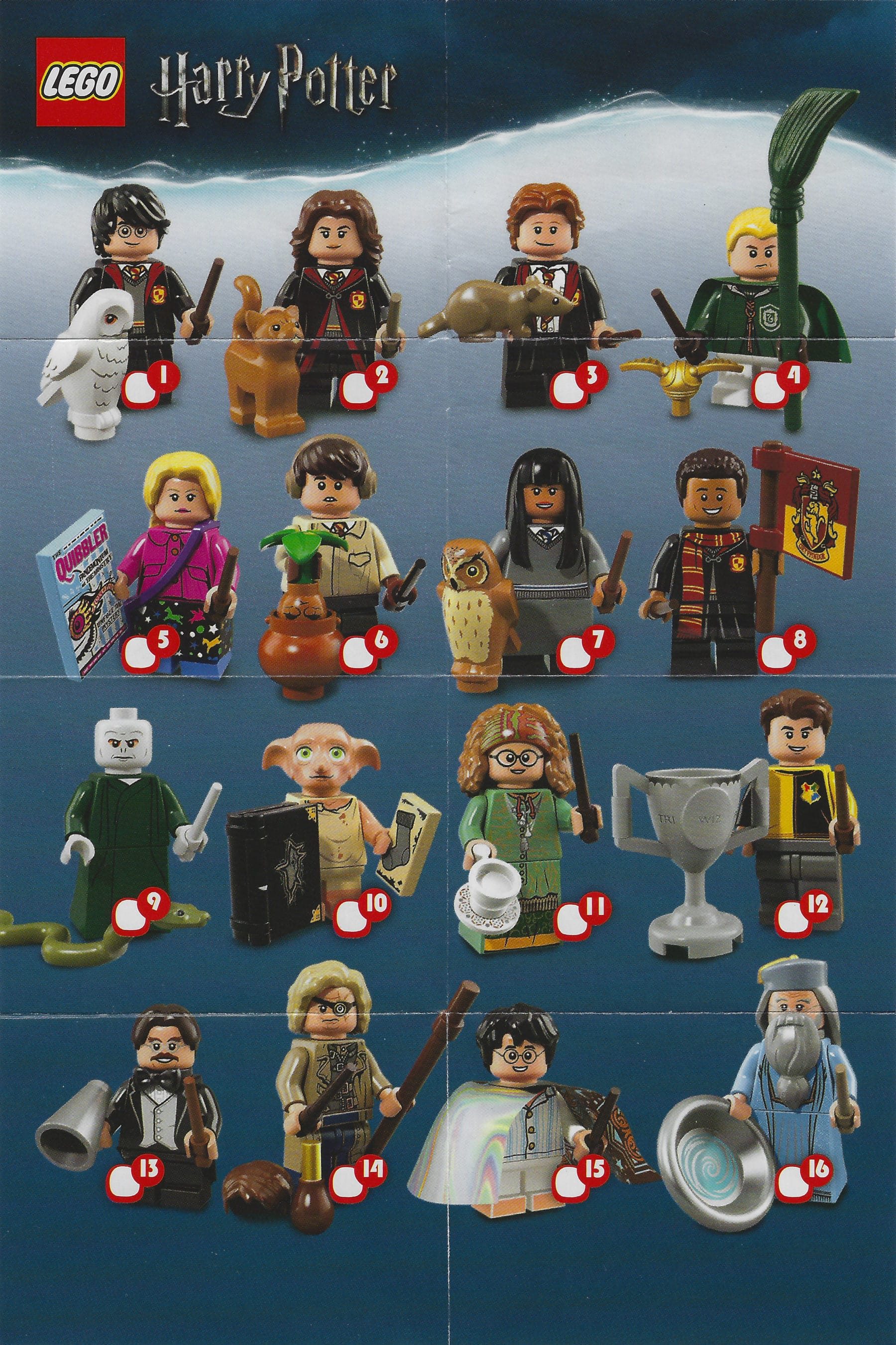 LEGO 71022 Harry Potter CMF Beipackzettel