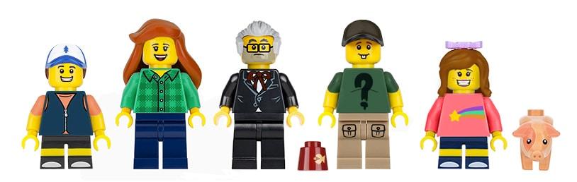LEGO Gravity Falls Minifiguren