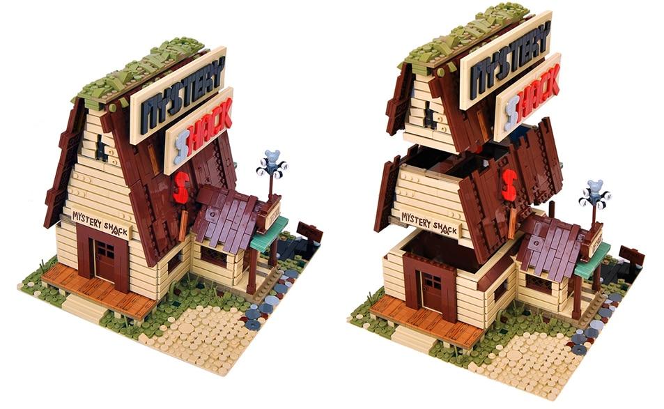 LEGO Gravity Falls Mystery Shack Hütte: Die Stockwerke sind abnehmbar
