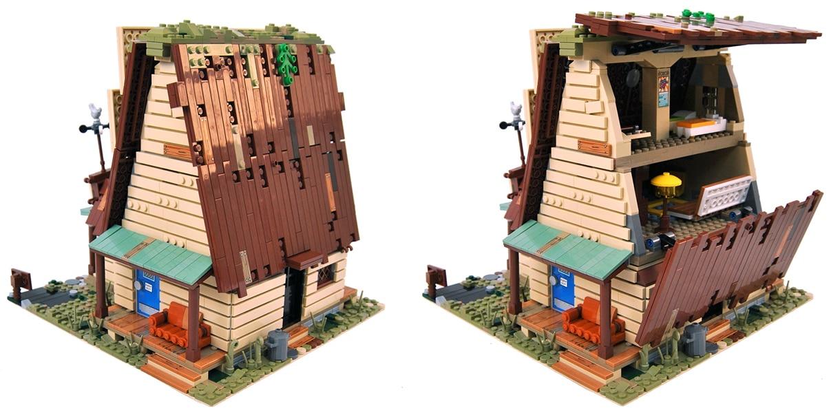 LEGO Gravity Falls Mystery Shack: Das Dach ist aufklappbar