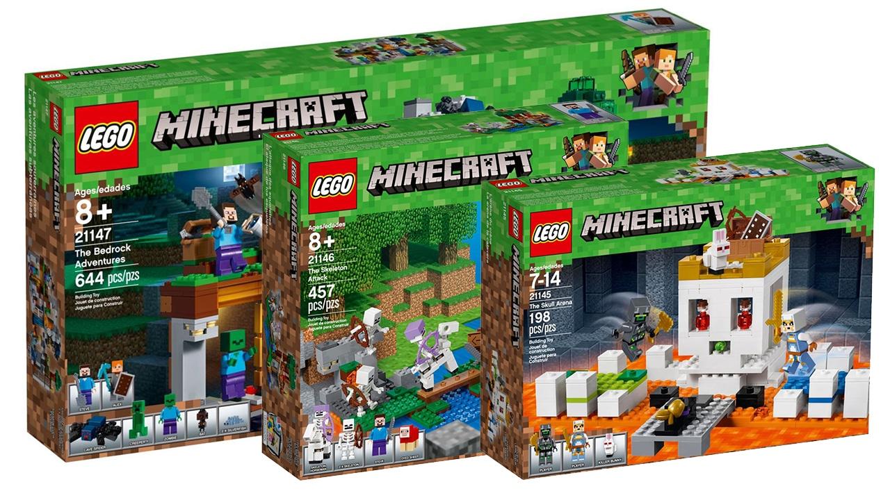 LEGO Minecraft Sets August 2018