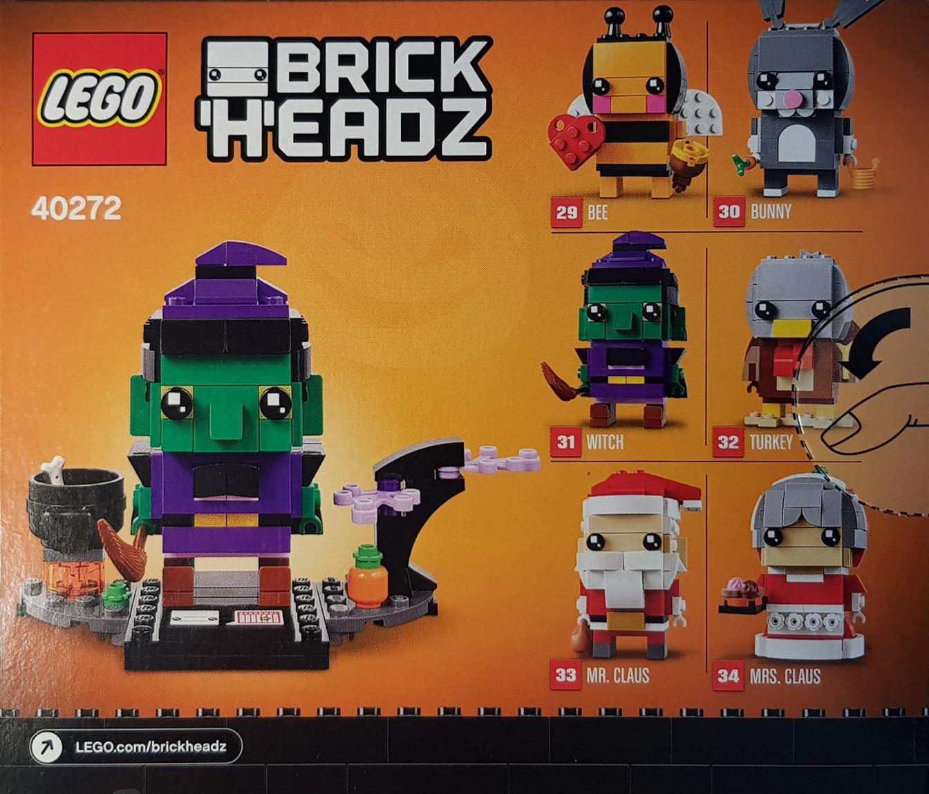 LEGO 40272 Hexe BrickHeadz #31 Hinten