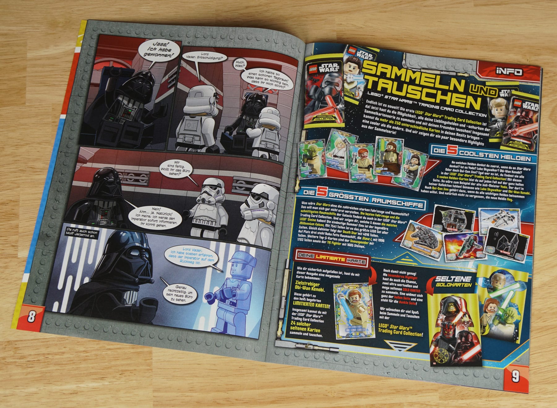 LEGO Star Wars Magazin Trading Card Collection Infos