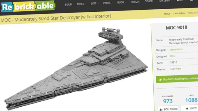 LEGO MOCs mit Rebrickable