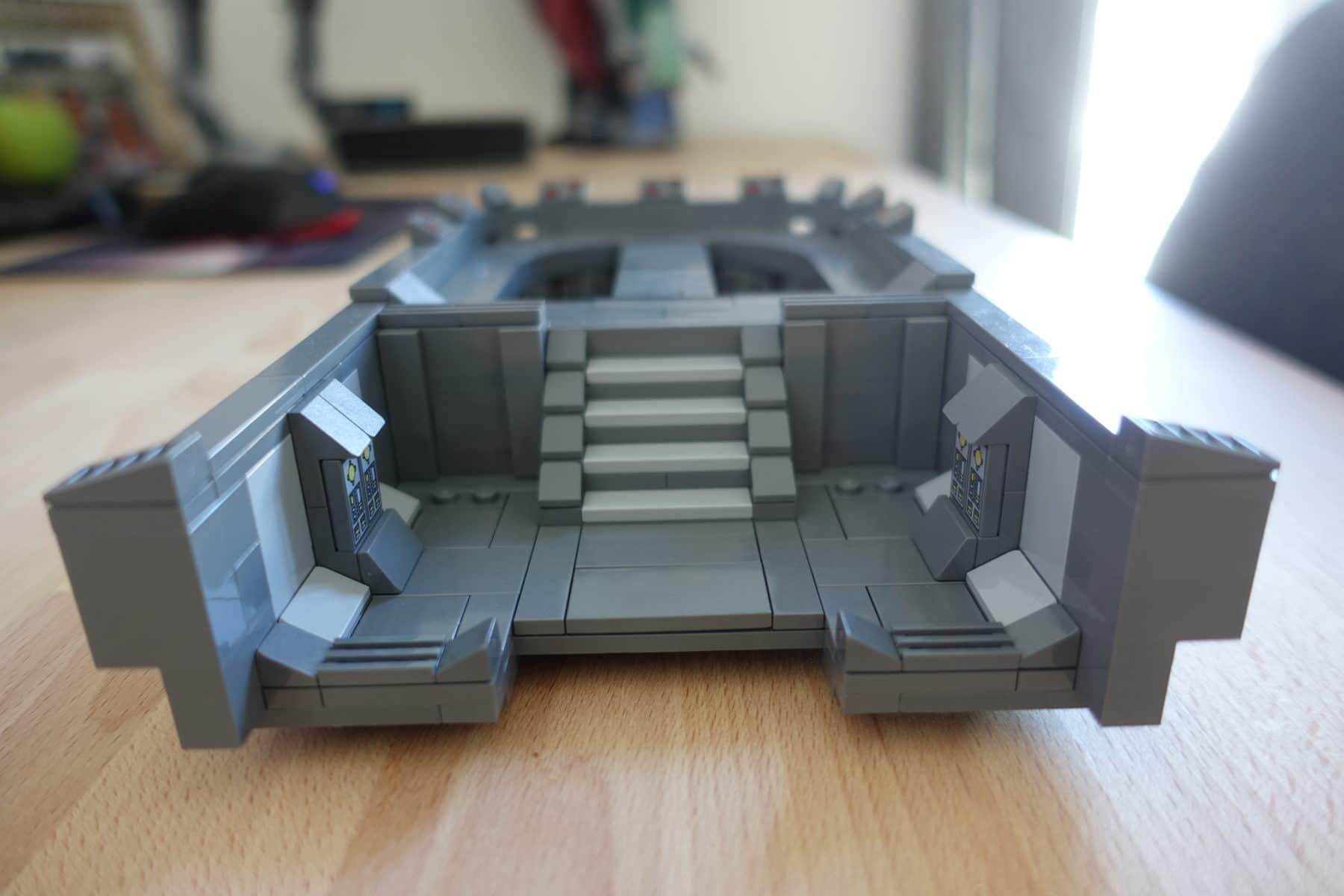 Treppenaufgang zur Brücke des LEGO MOC Imperial Star Destroyers