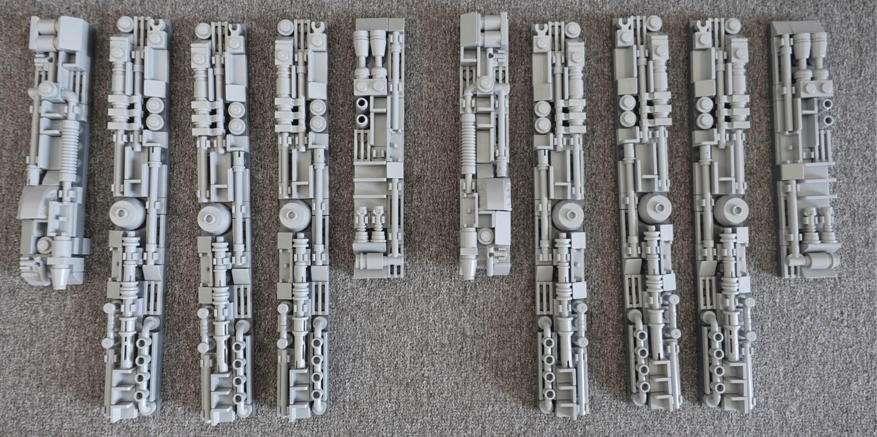 Seitenpaneele des LEGO MOC Imperial Star Destroyers