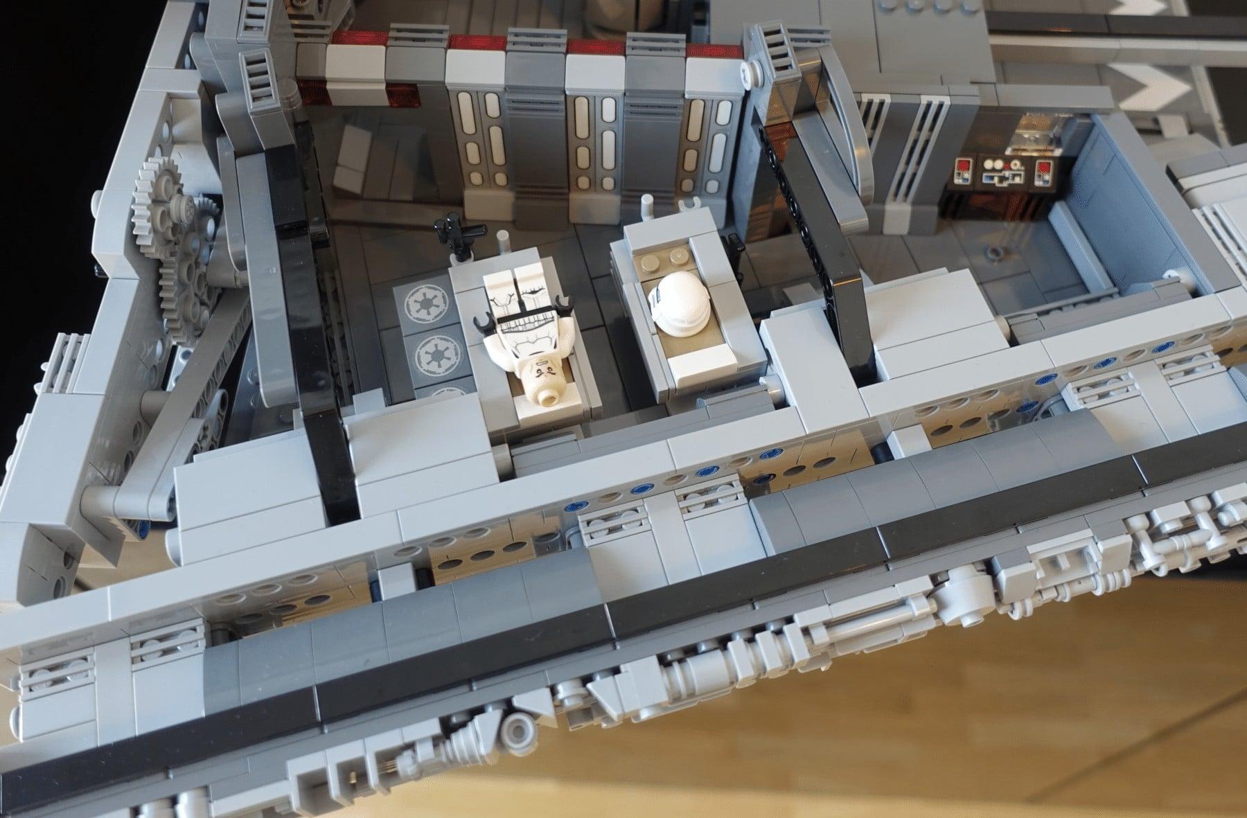 Unterkünfte im LEGO MOC des Imperial Star Destroyers