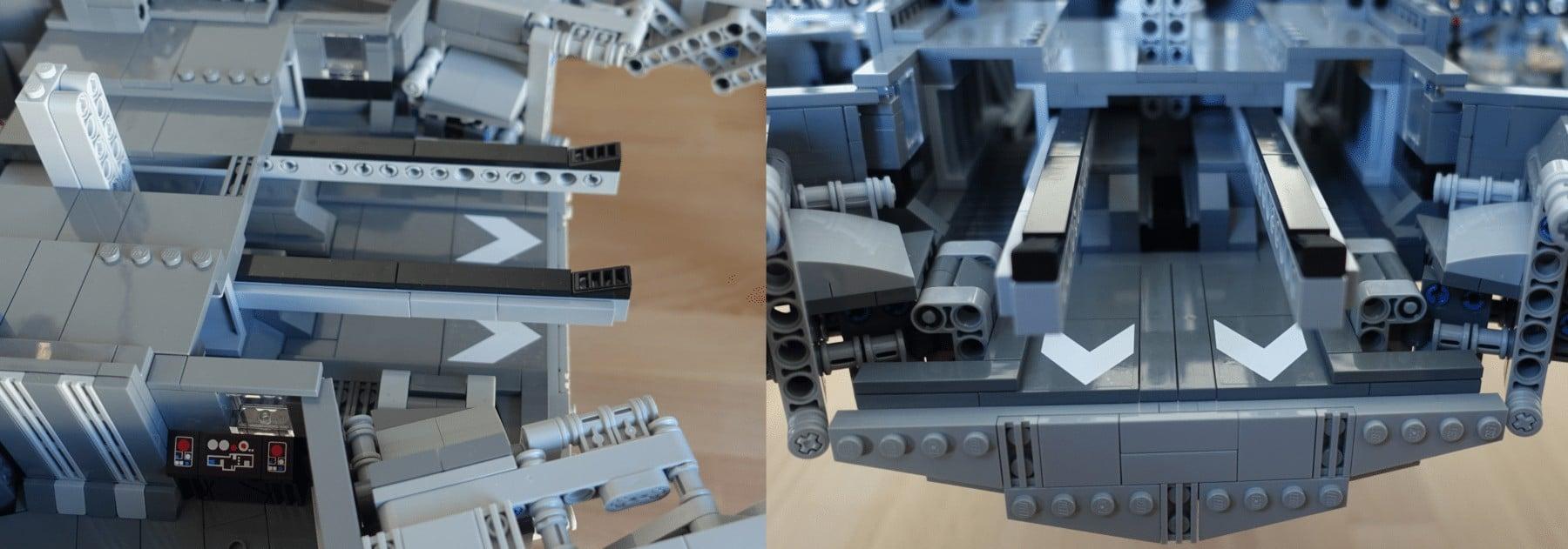 Hangar des LEGO MOC Imperial Star Destroyers