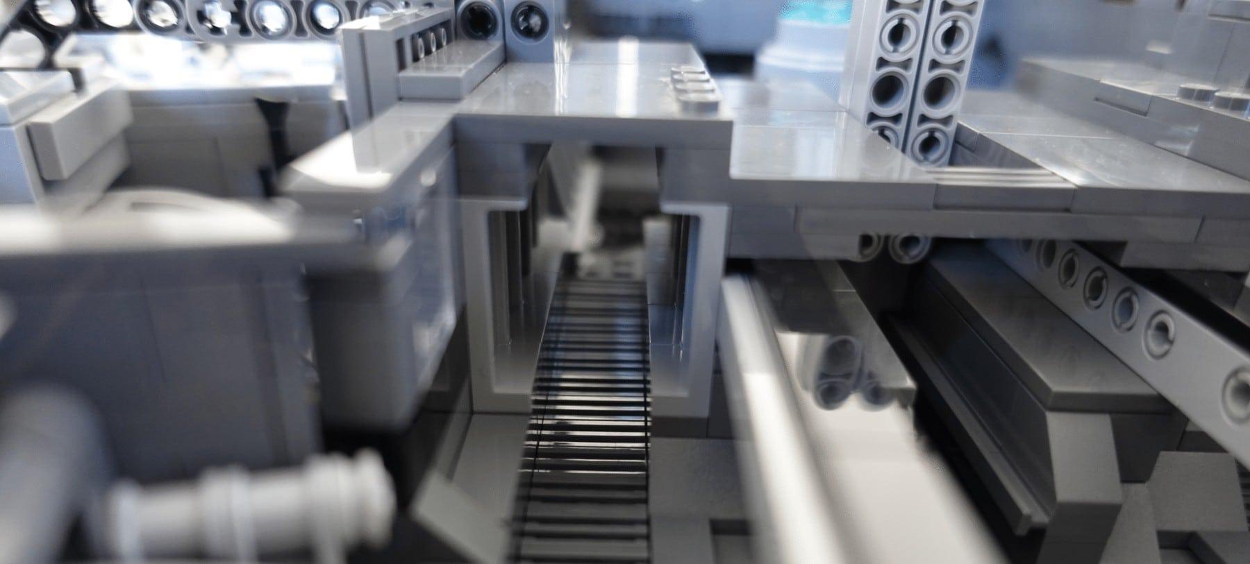 Gang zum Reaktorraum des LEGO MOC Imperial Star Destroyers