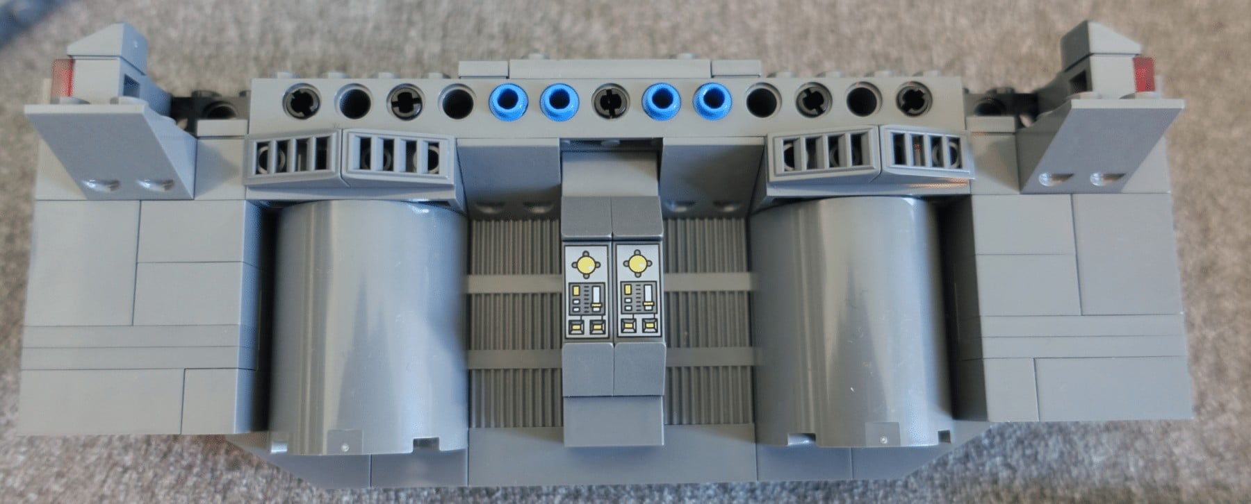 Rückwand des Reaktorraum des LEGO MOC Imperial Star Destroyers
