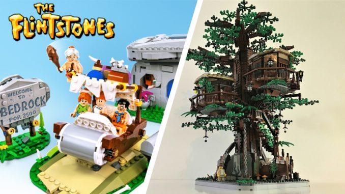 LEGO Ideas 21316 und 21317 Flintstones und Treehouse