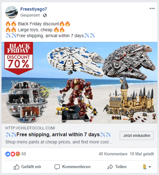 Fake LEGO Shop