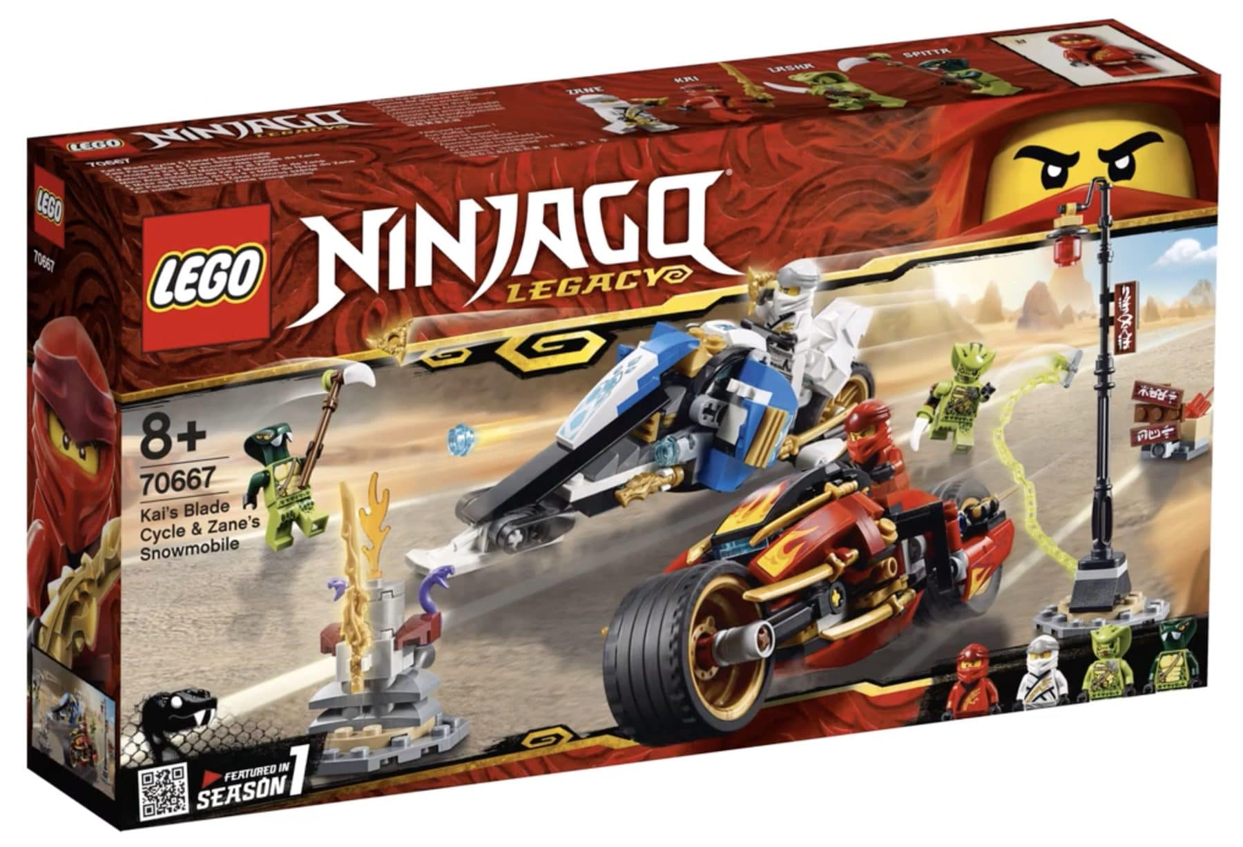 LEGO 70667 Kais Blade Cycle and Zanes Snowmobile