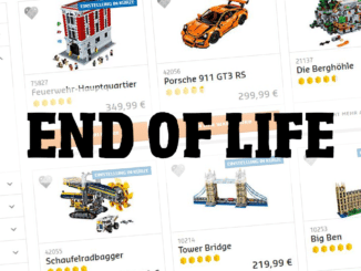 LEGO End of Life 2018