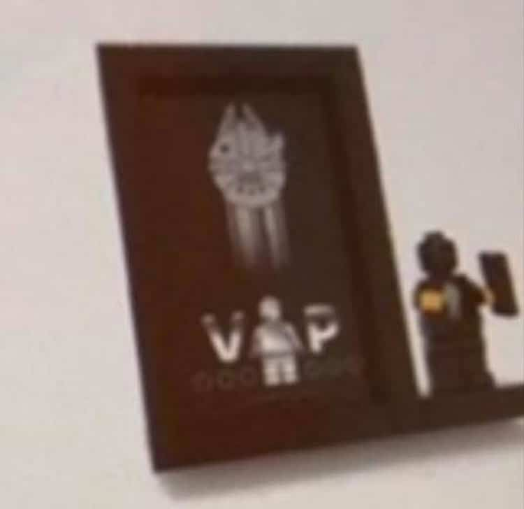 LEGO Star Wars Schwarze VIP Karte Display