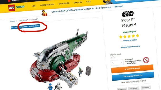 LEGO 75060 Slave I EOL