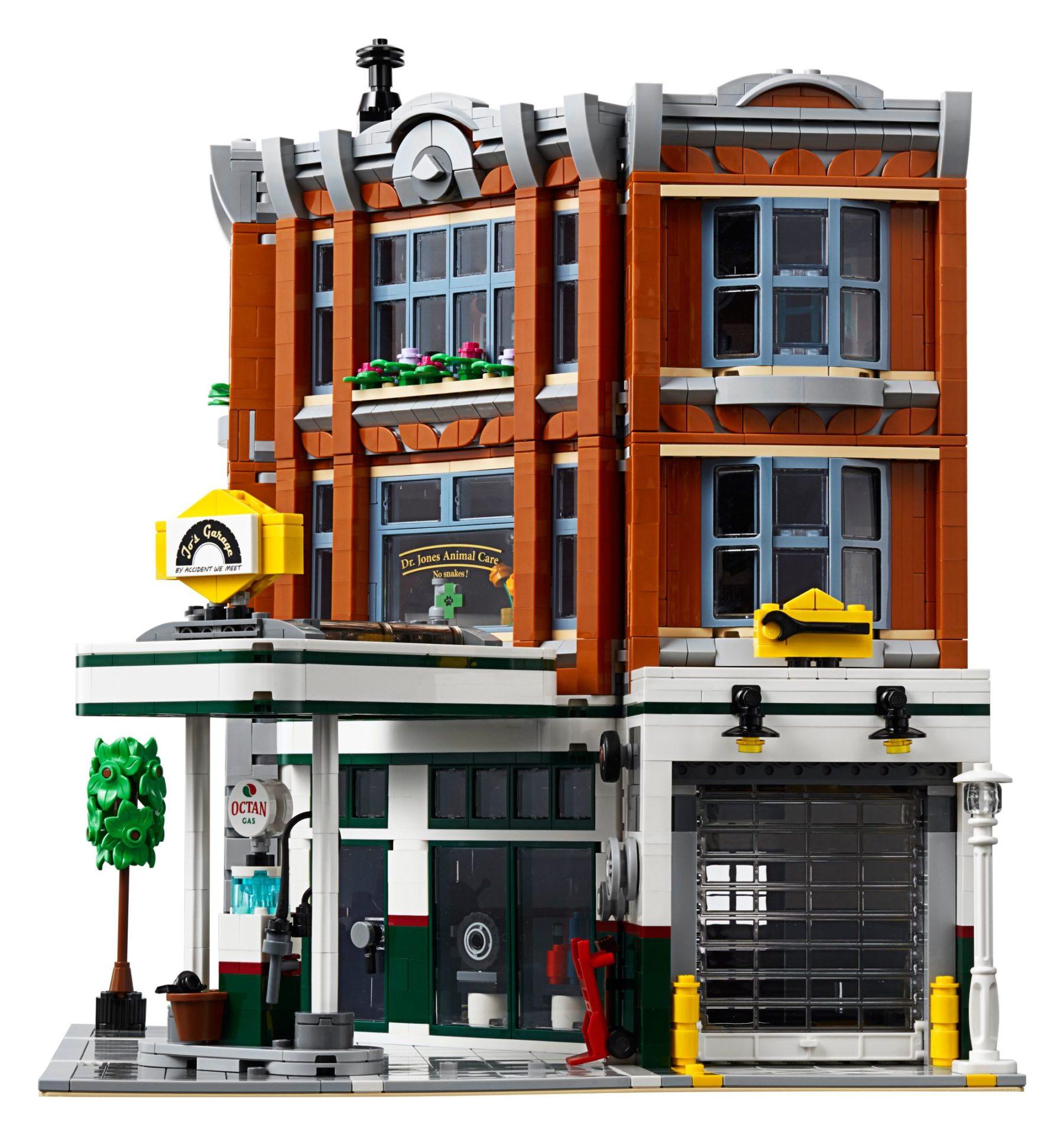 LEGO 10264 Eckgarage Modular Building: Seitenansicht